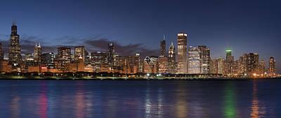 2012 Chicago Skyline Poster by Donald Schwartz