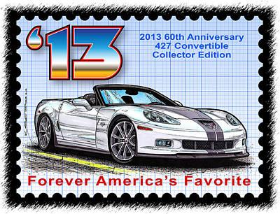 2013 60th Anniversary 427 Convertible Corvette Poster