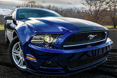Poster featuring the photograph 2014 Ford Mustang by Randy Scherkenbach