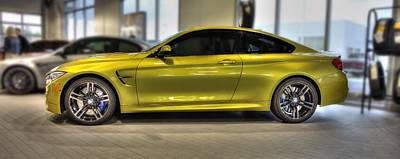 Poster featuring the photograph 2015 Bmw M4 by Aaron Berg