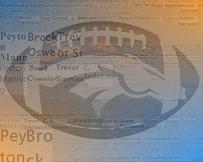 2015 Denver Broncos Players Poster