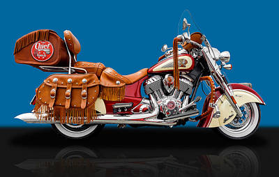 2015 Indian Chief Vintage Motorcycle - 6 Poster by Frank J Benz