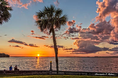Sunset Over Lake Eustis Poster by Christopher Holmes