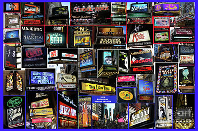 2016 Broadway Spring Collage Poster by Steven Spak