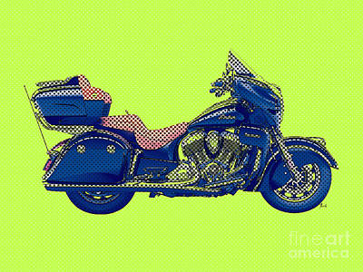 2016 Indian Roadmaster, Green And Blue Poster