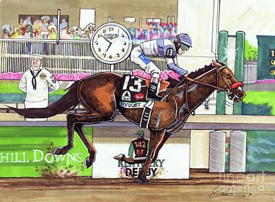 2016 Kentucky Derby Winner Nyquist Poster by Dave Olsen