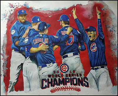 2016 World Series Champions Poster by Fred Smith