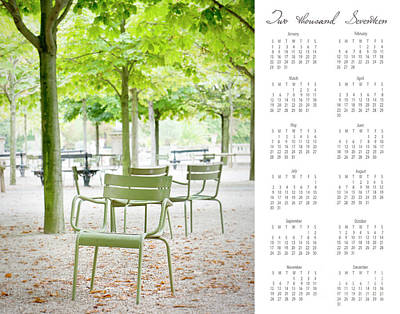 Poster featuring the photograph 2017 Wall Calendar Paris by Ivy Ho