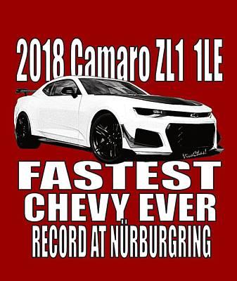 2018 Camaro Zl1 1le Poster