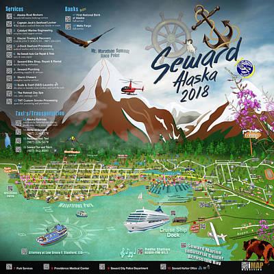 2018 Seward, Alaska Qr Code Directory Right Poster