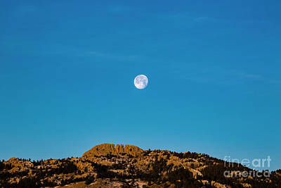 2018 Supermoon Over Horsetooth Rock Poster