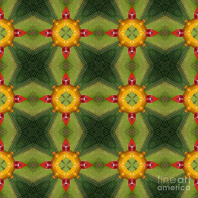 Kaleidoscopic Ornaments Poster by Miroslav Nemecek