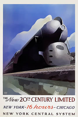 20th Century Limited Poster by Chuck Staley