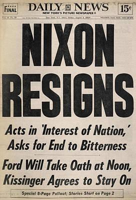 Richard Nixon (1913-1994) Poster by Granger