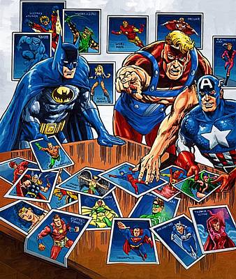 Superhero Art Poster by Egor Vysockiy
