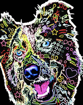 210f Border Collie By Nixo Poster