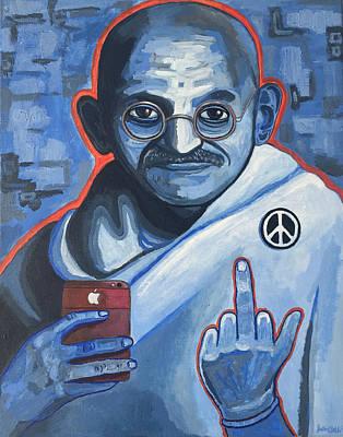 21st Century Gandhi Poster by Justin Welch
