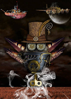 Steampunk Art Poster by Marvin Blaine