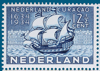 Old Dutch Postage Stamp Poster by James Hill