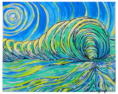 Surf Art Poster by W Gilroy