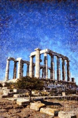 Temple Of Poseidon Poster by George Atsametakis