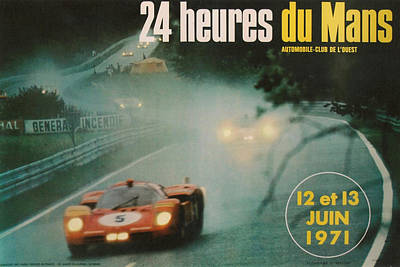 24 Hours Of Le Mans - 1971 Poster by Georgia Fowler