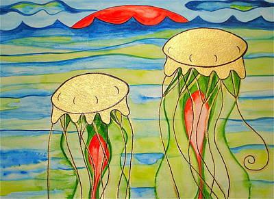 Poster featuring the painting 24-karat Jellies by Erika Swartzkopf