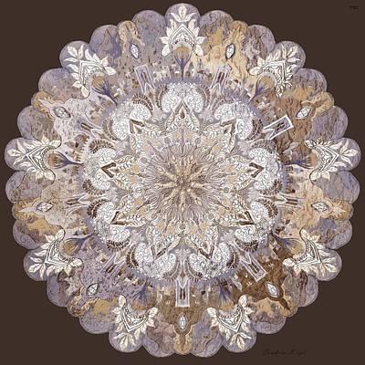 Chanukkah Mandala- Patchwork-3d Effect Poster by Sandrine Kespi
