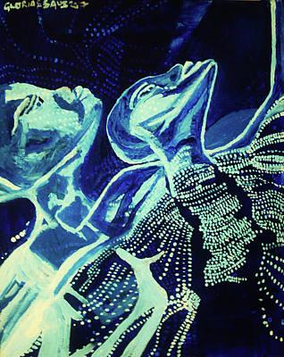 Dinka In Blue - South Sudan Poster
