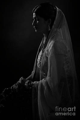 Portrait Of Indian Lady Poster