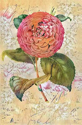 Shabby Chic Botanical Flowers Poster