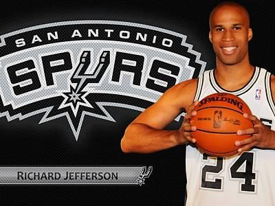 25850 Sports 2009 Nba Spurs Richard Jefferson  Poster