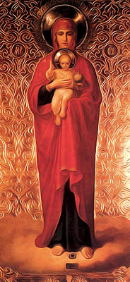 Virgin And Child Poster