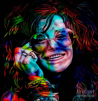 Janis Joplin Collection Poster by Marvin Blaine