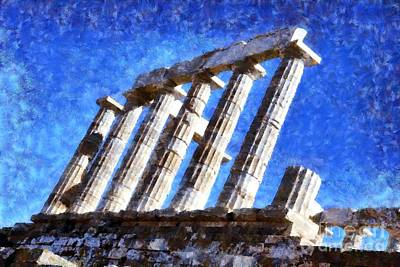 Temple Of Poseidon Poster by George Atsametakis