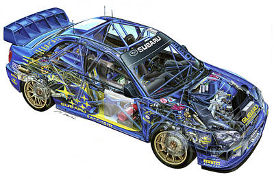 28204 Subaru Subaru Impreza Wrc Poster