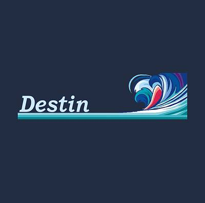 Destin Florida Poster by Brian's T-shirts
