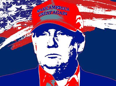 Donald Trump 2016 Presidential Candidate Poster by Elena Kosvincheva