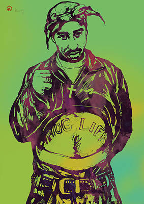 2pac Tupac Shakur New Pop Art Poster Poster