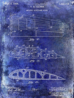 1925 Airplane Wing Patent Poster