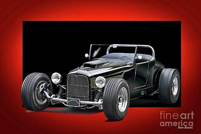 1927 Ford 'track T' Roadster Poster by Dave Koontz