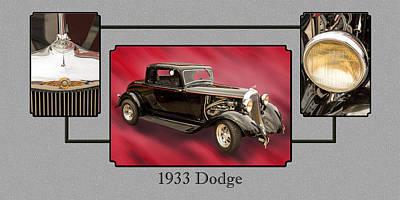 1933 Dodge Vintage Classic Car Automobile Photographs Fine Art P Poster by M K  Miller