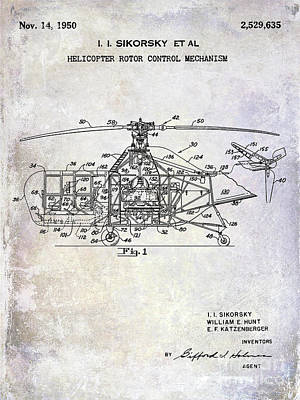 1950 Helicopter Patent Poster