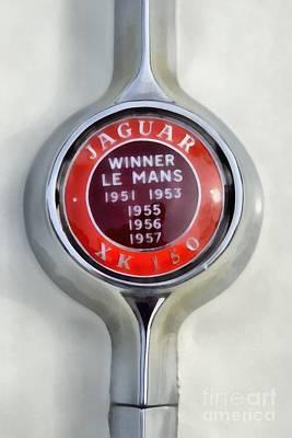 1957 Jaguar Xk 150 Poster by George Atsametakis