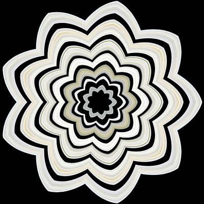 9 Petaled Designs Poster by Baha'i Writings As Art