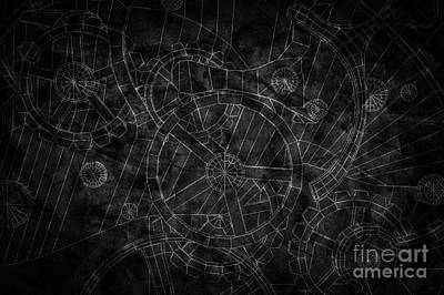 Abstract Industrial And Technology Background Poster by Michal Bednarek