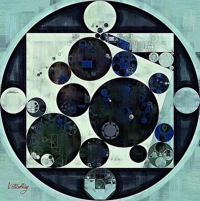 Abstract Painting - Dark Jungle Green Poster by Vitaliy Gladkiy