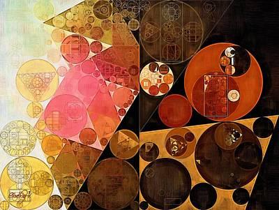 Abstract Painting - New Tan Poster by Vitaliy Gladkiy