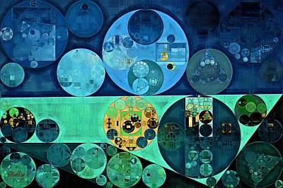 Abstract Painting - Oxford Blue Poster by Vitaliy Gladkiy