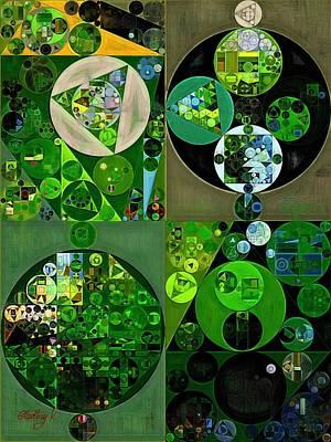Abstract Painting - Sap Green Poster by Vitaliy Gladkiy